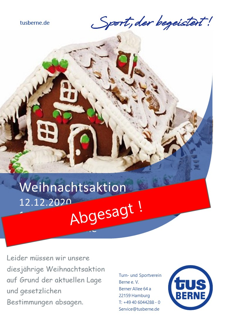 Absage Weihnachtsaktion